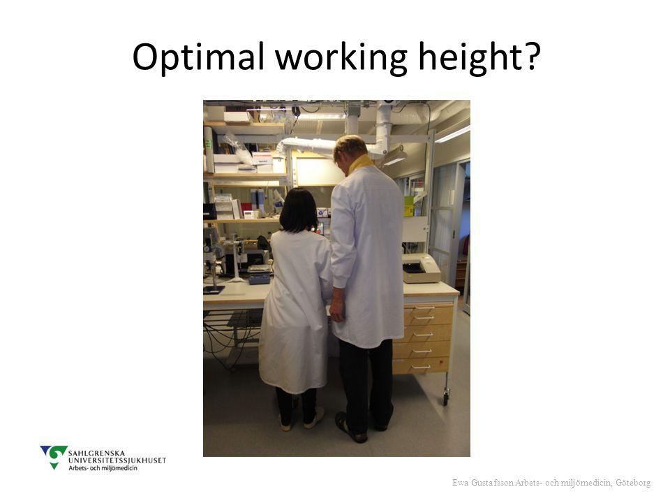 Optimal working height Ewa Gustafsson Arbets- och miljömedicin, Göteborg