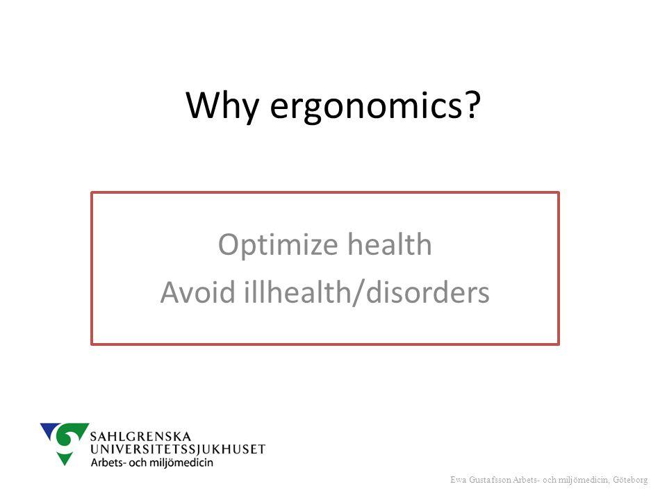 Why ergonomics.