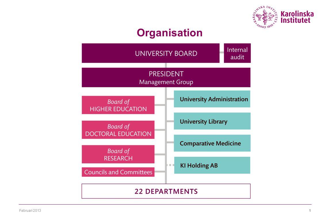 Februari 20131 Organisation 22