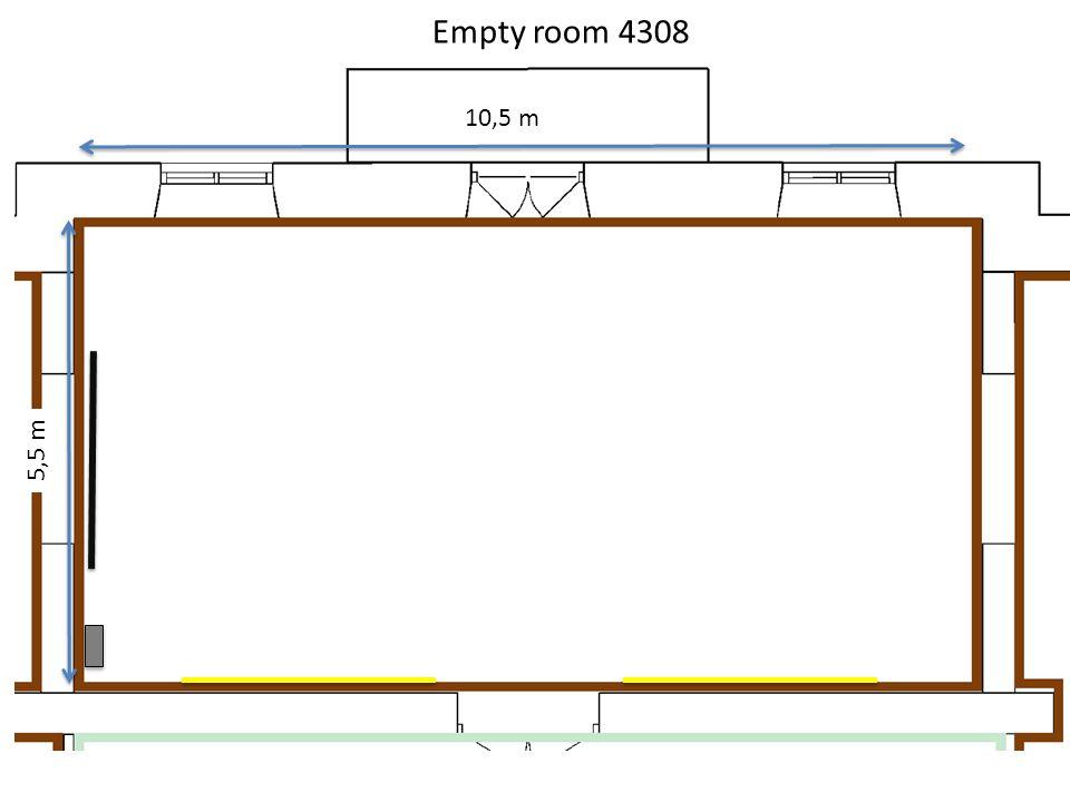 10,5 m 5,5 m Empty room 4308