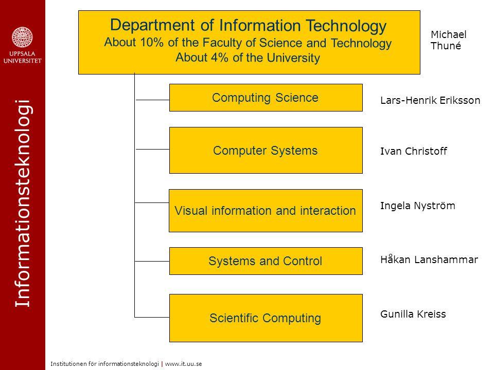 Informationsteknologi Institutionen för informationsteknologi | www.it.uu.se Information Technology Center