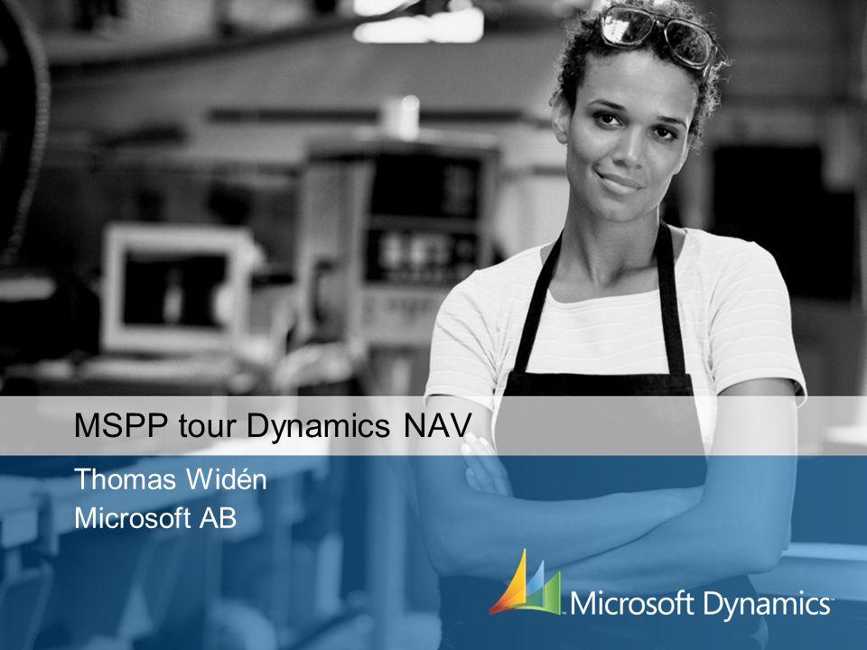 MSPP tour Dynamics NAV Thomas Widén Microsoft AB