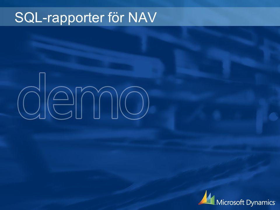 SQL-rapporter för NAV