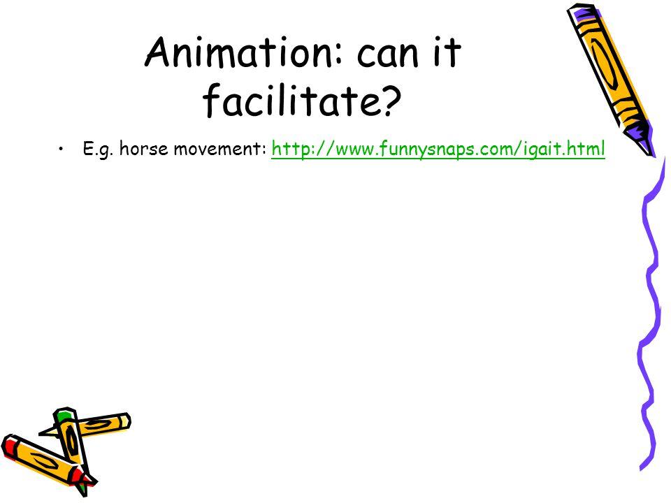 Animation: can it facilitate. E.g.