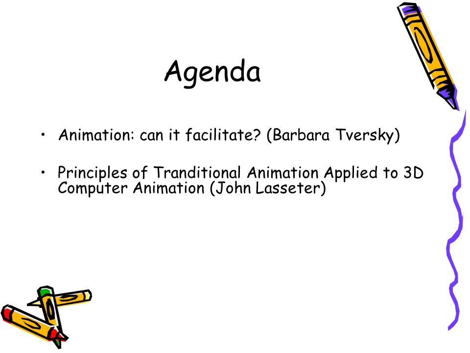 Agenda Animation: can it facilitate.