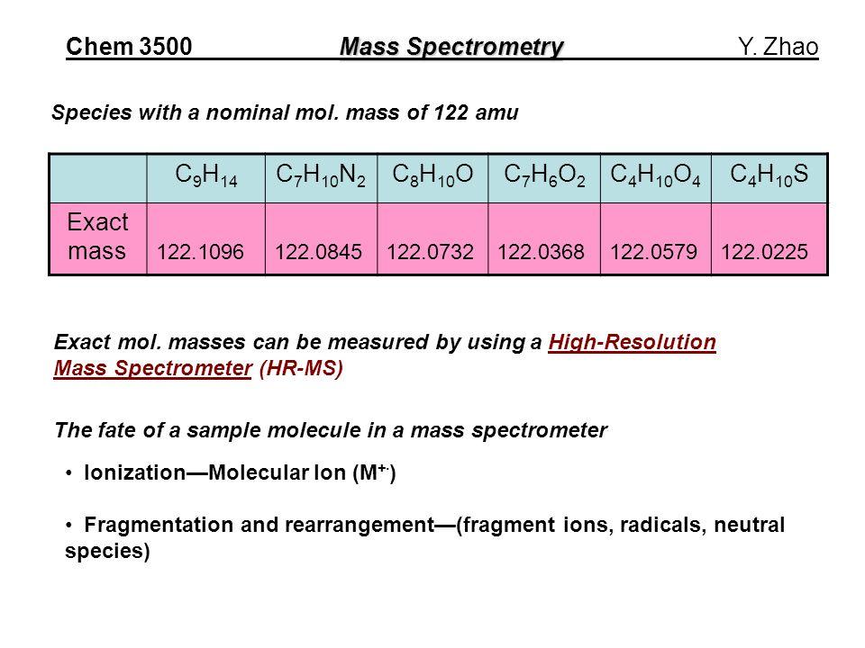 C 9 H 14 C 7 H 10 N 2 C 8 H 10 OC7H6O2C7H6O2 C 4 H 10 O 4 C 4 H 10 S Exact mass 122.1096122.0845122.0732122.0368122.0579122.0225 Exact mol.