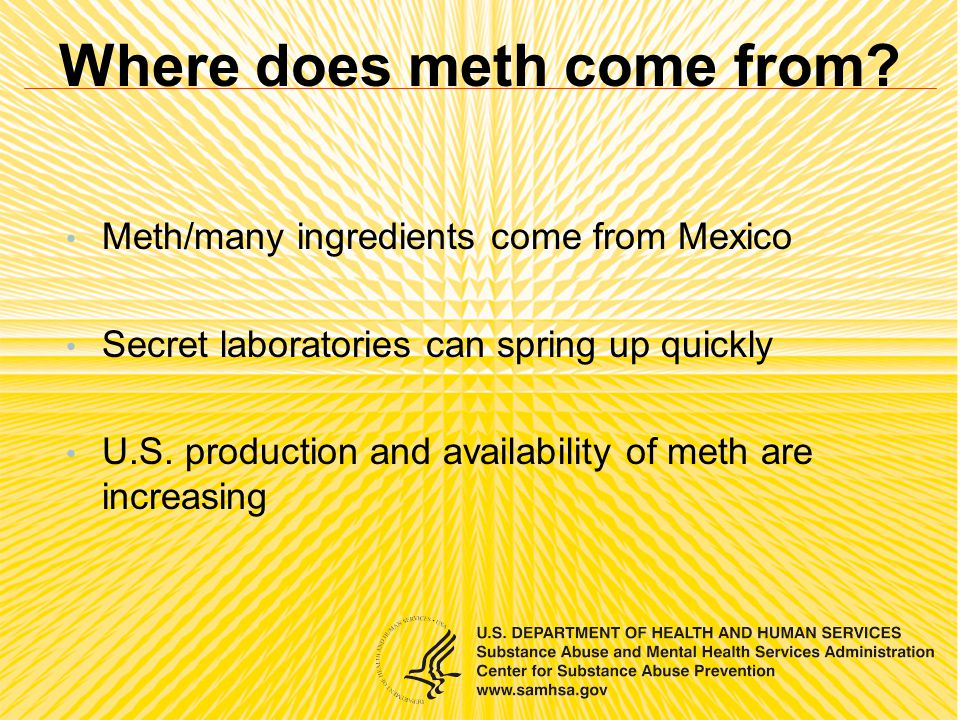 Where does meth come from.