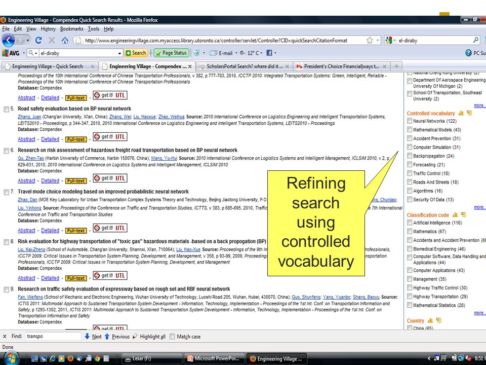 Refining search using controlled vocabulary