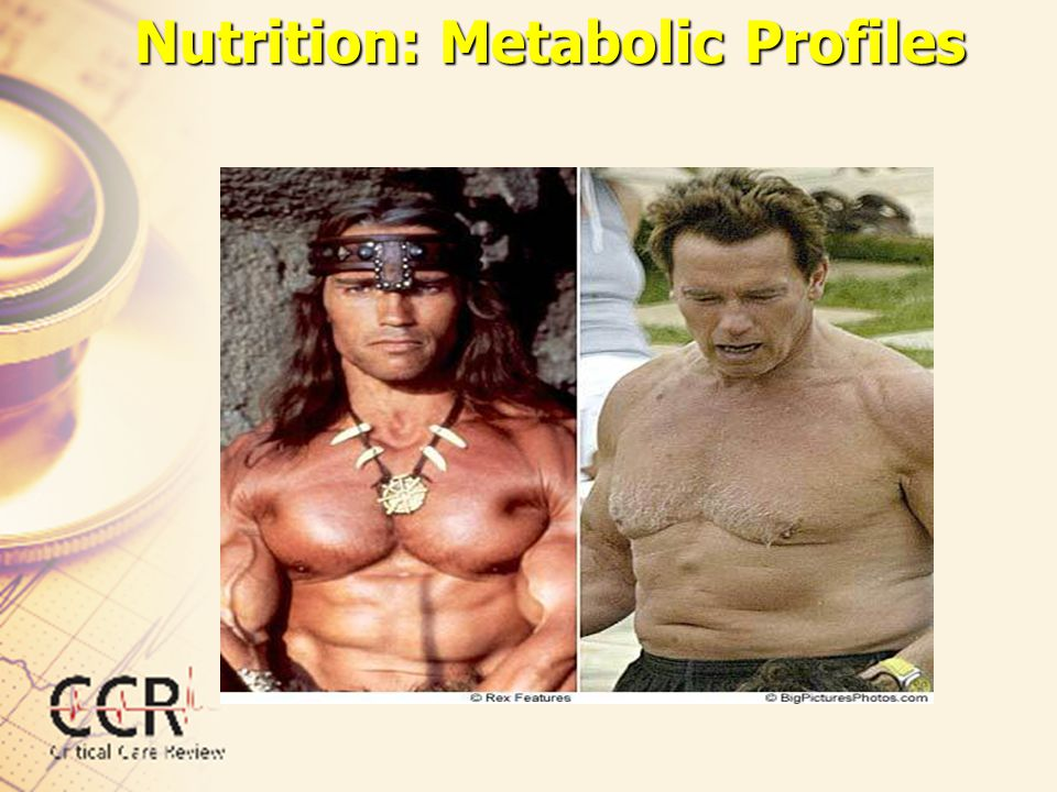 Nutrition: Metabolic Profiles StarvationCatabolic Disease Metabolic rate to Severely ill patients (septic, major trauma or post- operative) are hypermetabolic and hypercatabolic.