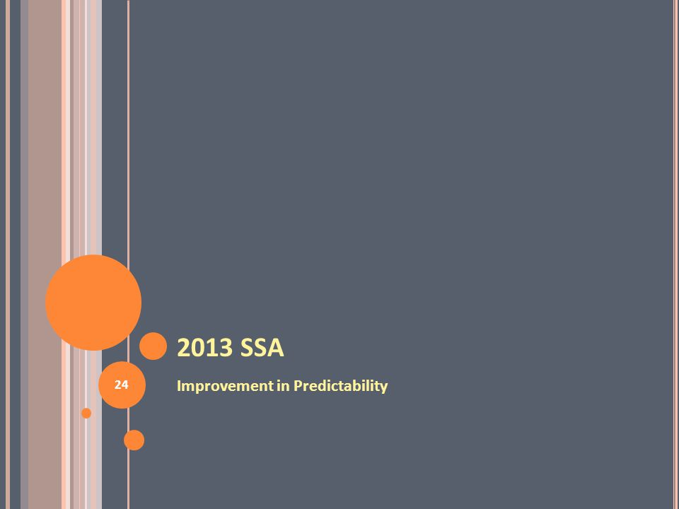 2013 SSA Improvement in Predictability 24