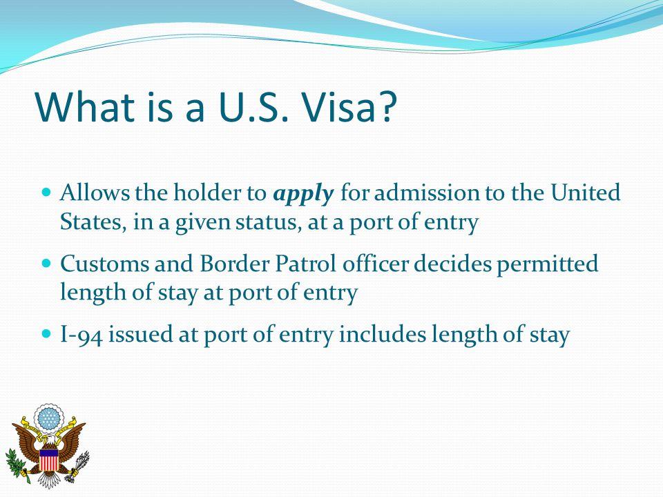 What is a U.S.Visa.