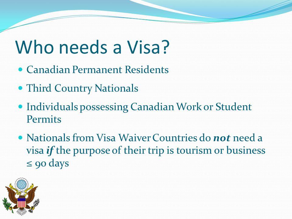 Who needs a Visa.