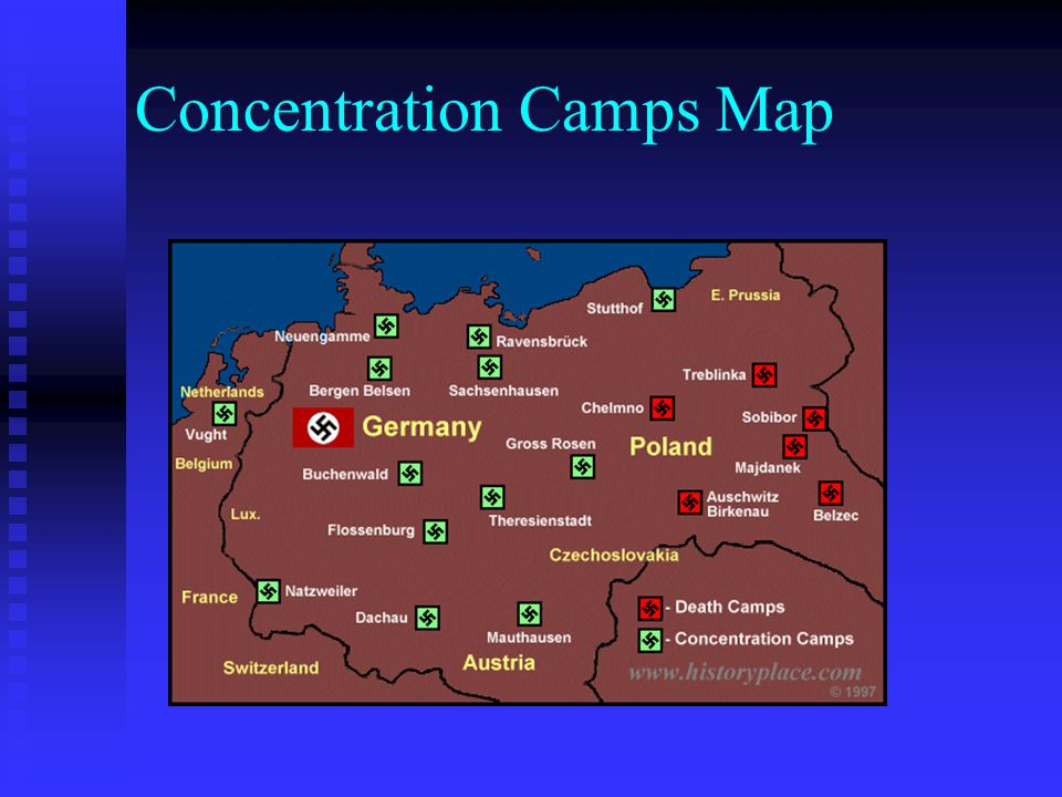 Concentration Camps Map