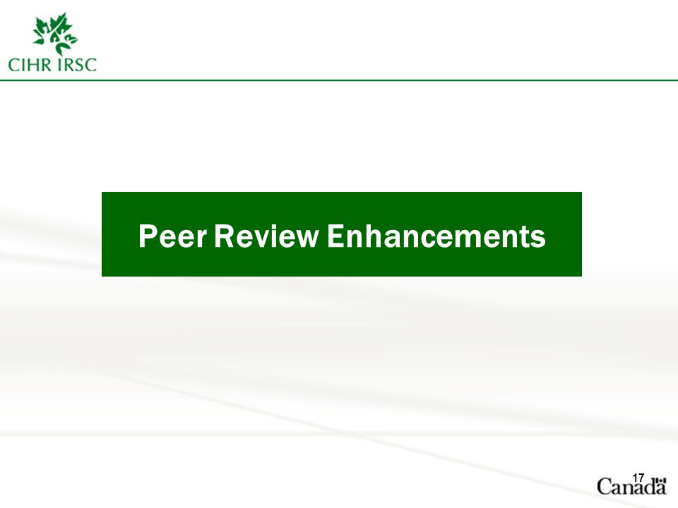 Peer Review Enhancements 17