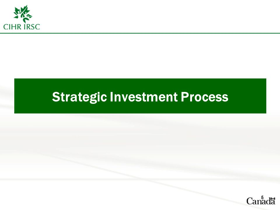 Strategic Investment Process 5