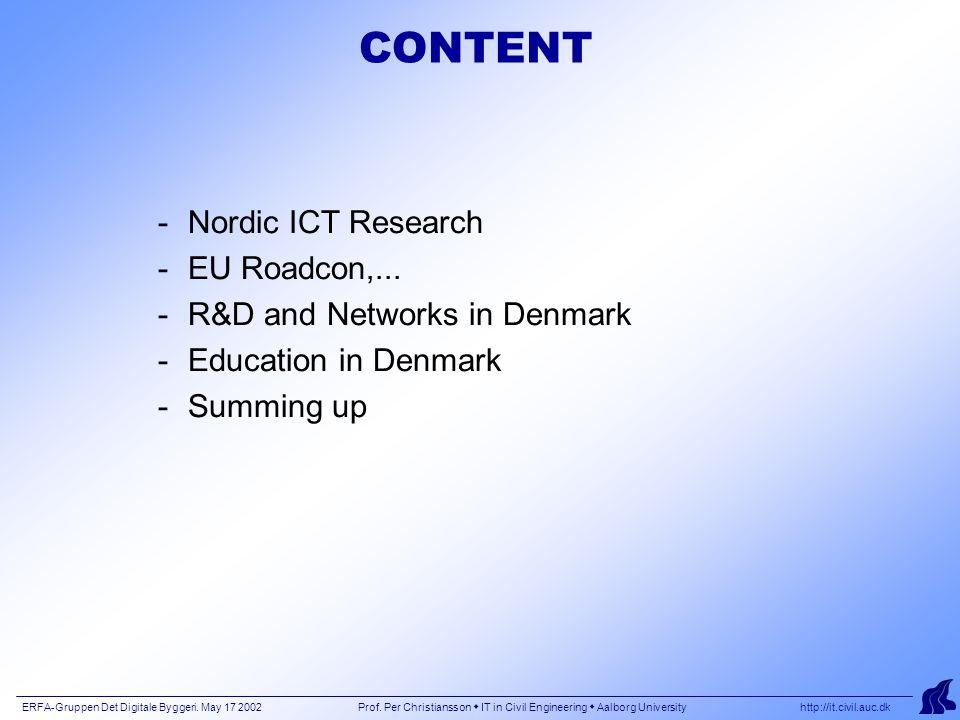 ERFA-Gruppen Det Digitale Byggeri.May 17 2002 Prof.