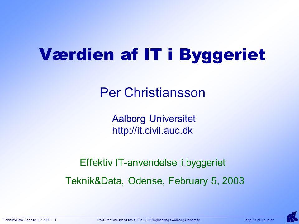 Teknik&Data Odense 5.2.2003 1 Prof.