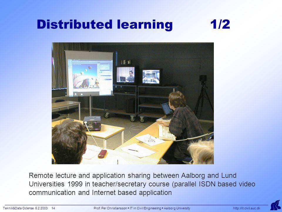 Teknik&Data Odense 5.2.2003 14 Prof.
