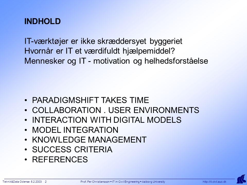Teknik&Data Odense 5.2.2003 2 Prof.