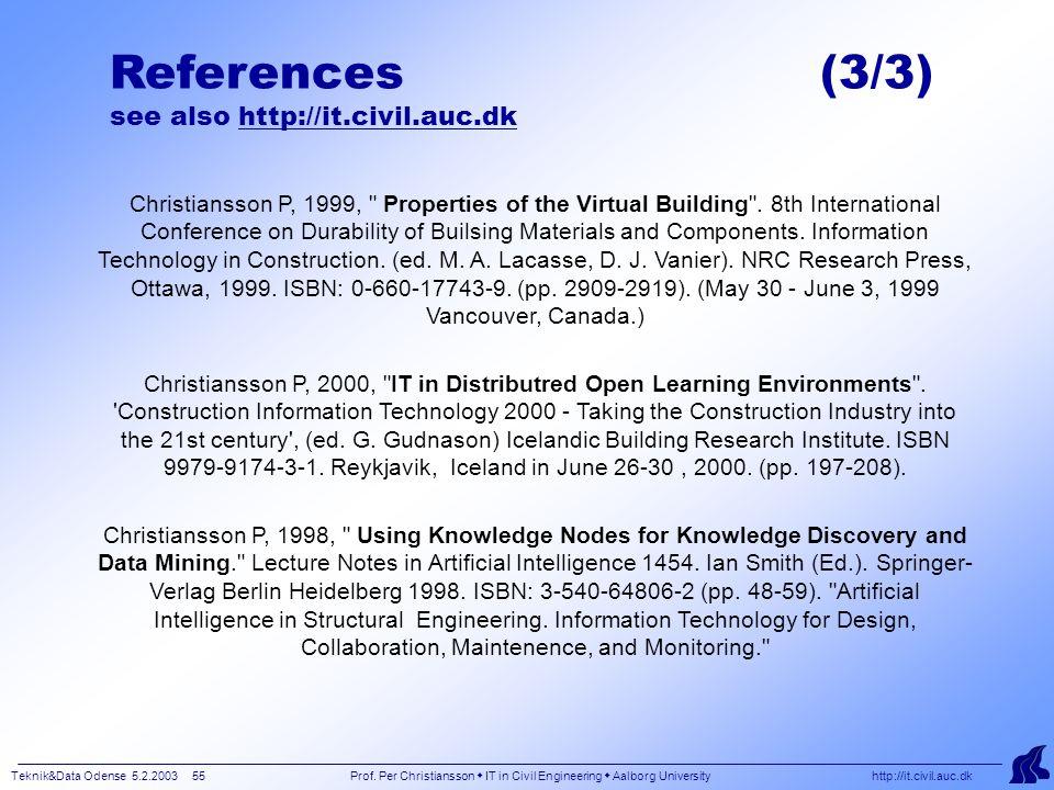 Teknik&Data Odense 5.2.2003 55 Prof.
