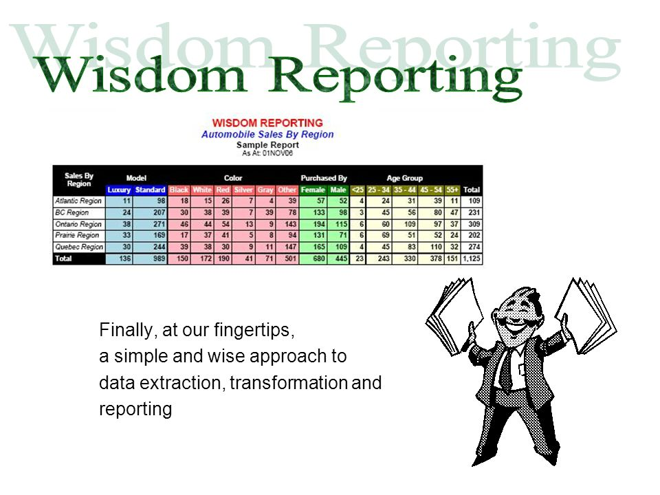 Finally, at our fingertips, a simple and wise approach to data extraction, transformation and reporting