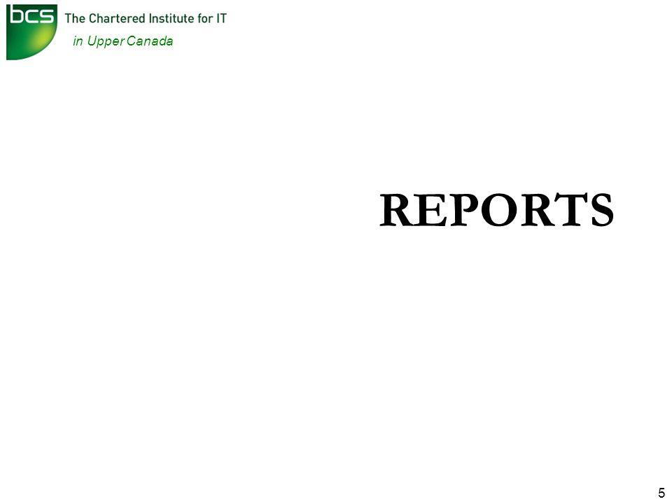in Upper Canada 5 REPORTS