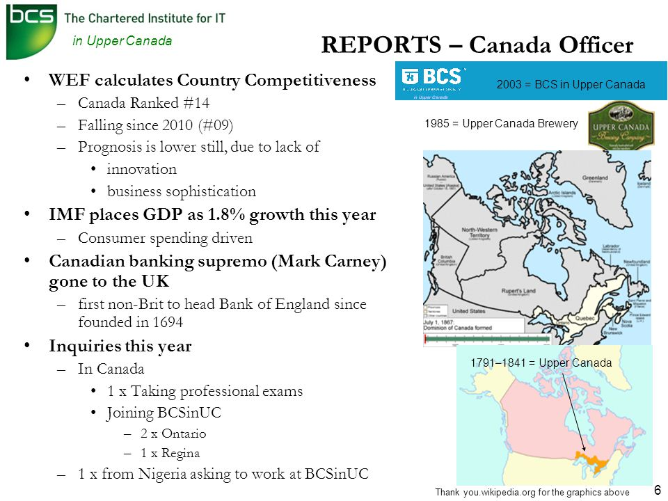 in Upper Canada 17 2013/2014 – New Committee Out with the old, …… ……and in with the New Committee