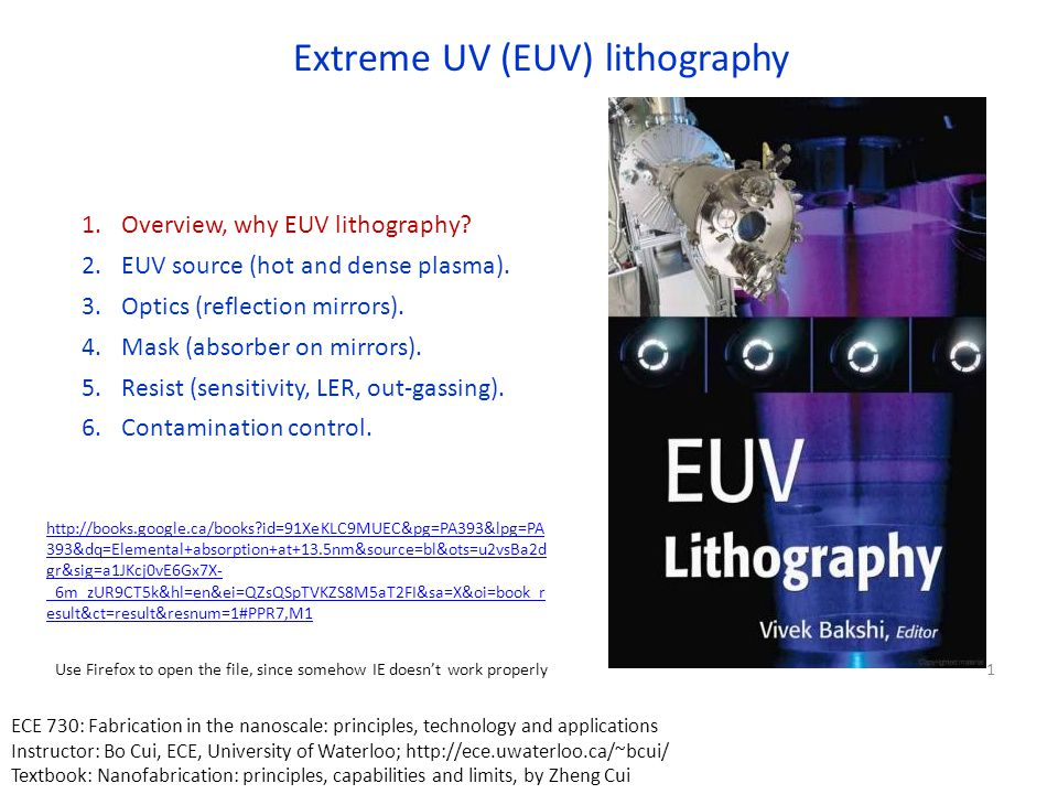 Electromagnetic spectrum Visible is 400 - 700nm (1.7 to 3eV) UV down to about 170 nm (  7eV) VUV- Vacuum UV (starts where N 2 is absorbing) then there is FUV (far UV) & EUV EUV/soft x-ray, 2-50nm 47nm is the λ for the Ne-like-Ar X-ray Laser (capillary discharge laser).