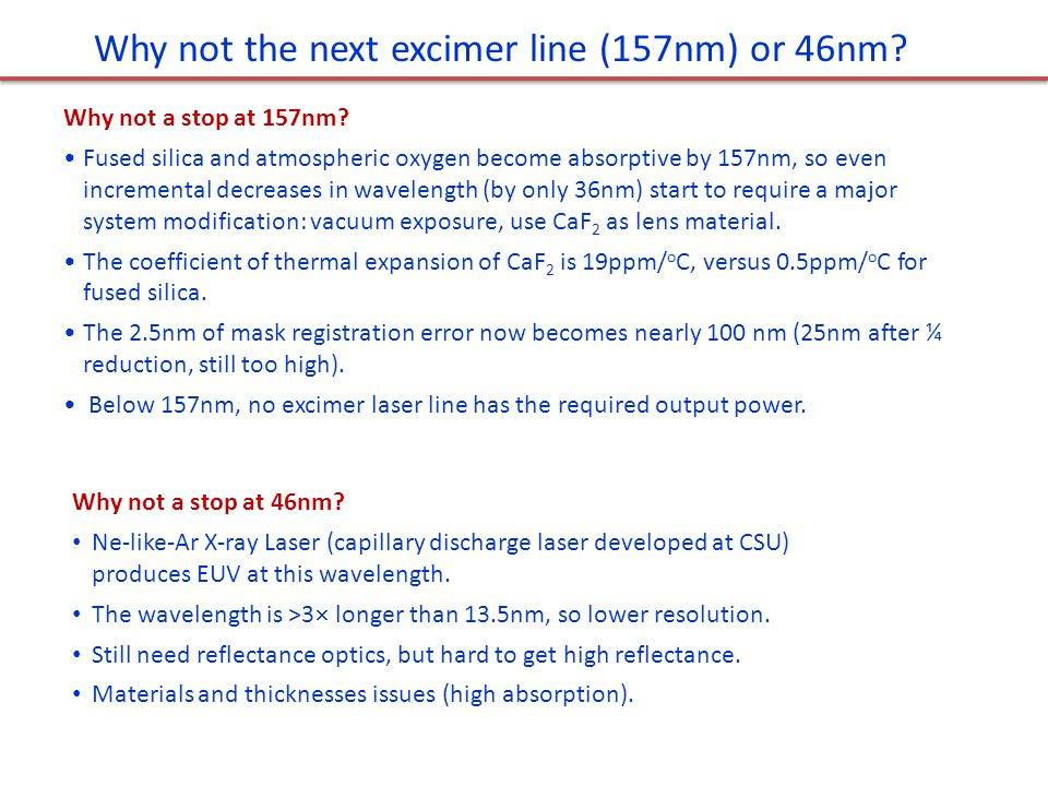 Why Si/Mo and 13.5nm? 30