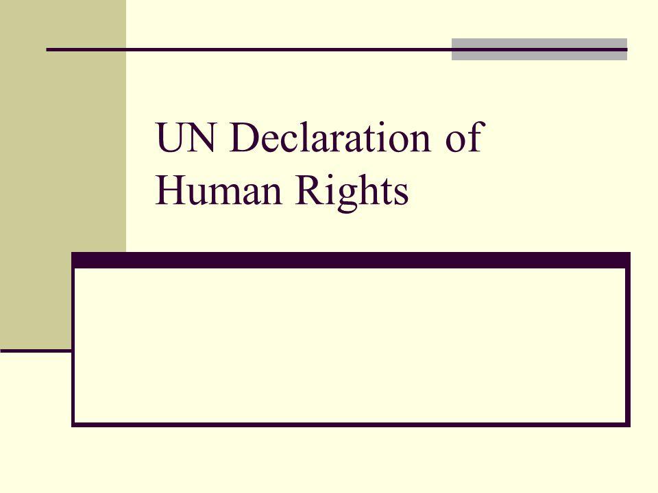 UN Declaration of Human Rights