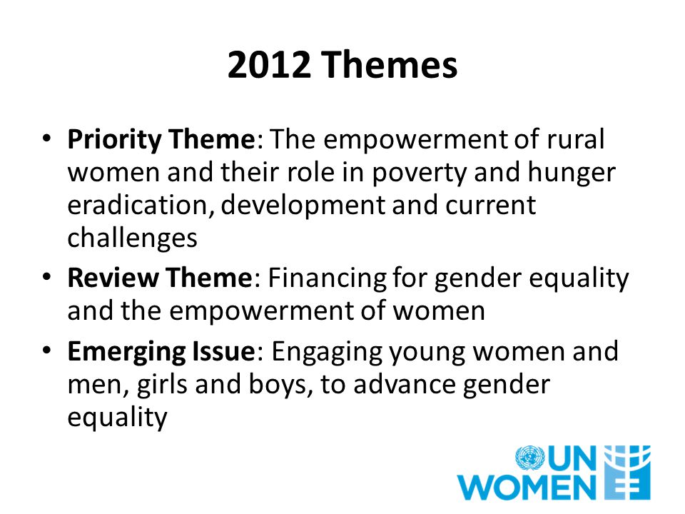 Theme - Empowerment of Rural Women Rural women constitute one-fourth of the world's population.