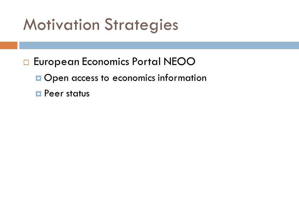Motivation Strategies  European Economics Portal NEOO  Open access to economics information  Peer status