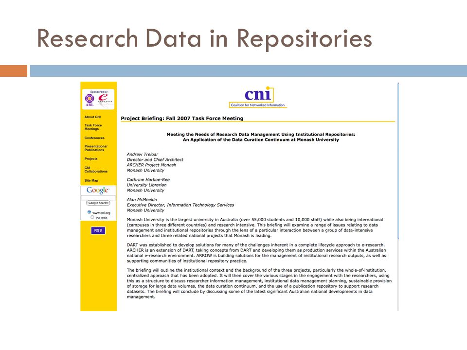 Research Data in Repositories
