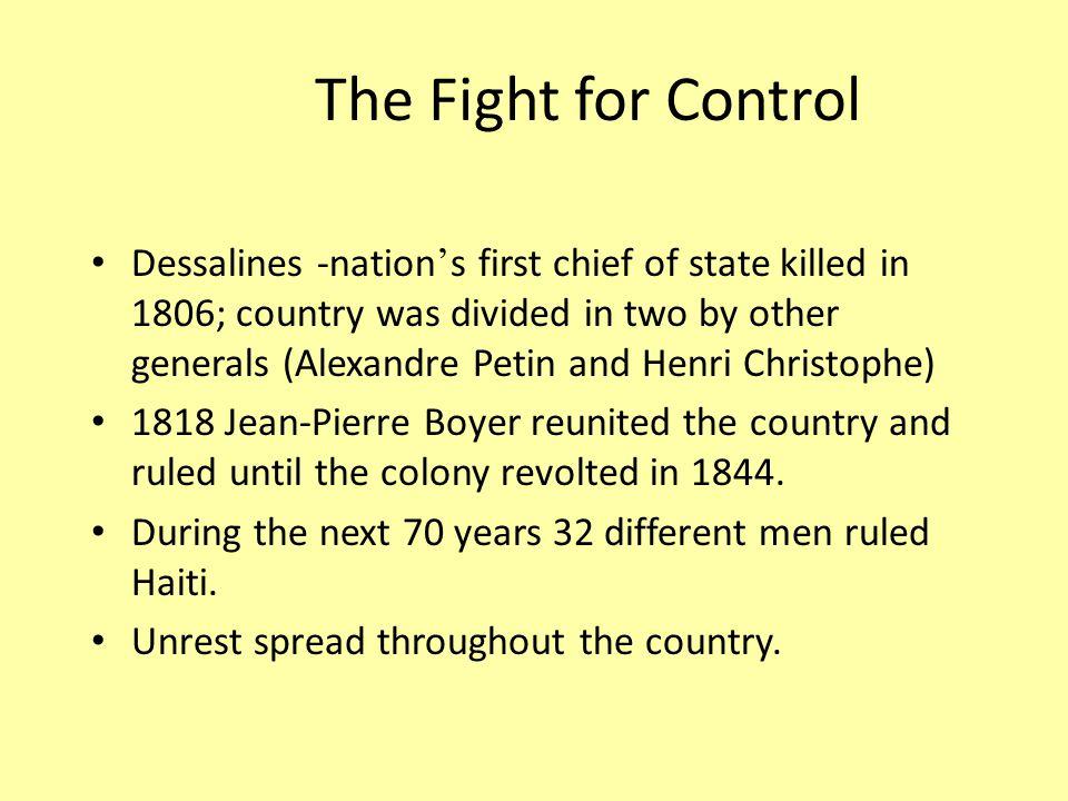 The US Steps In 1915 - President Woodrow Wilson sent marines to restore order.