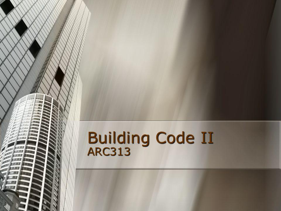 Building Code II ARC313