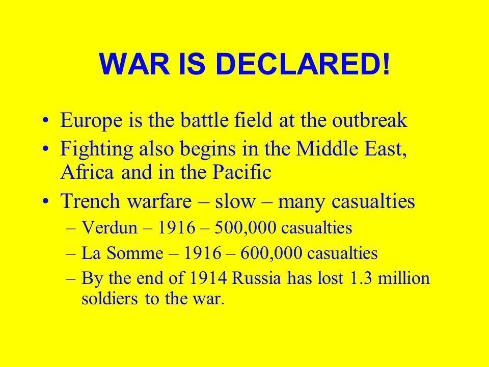 WAR IS DECLARED.