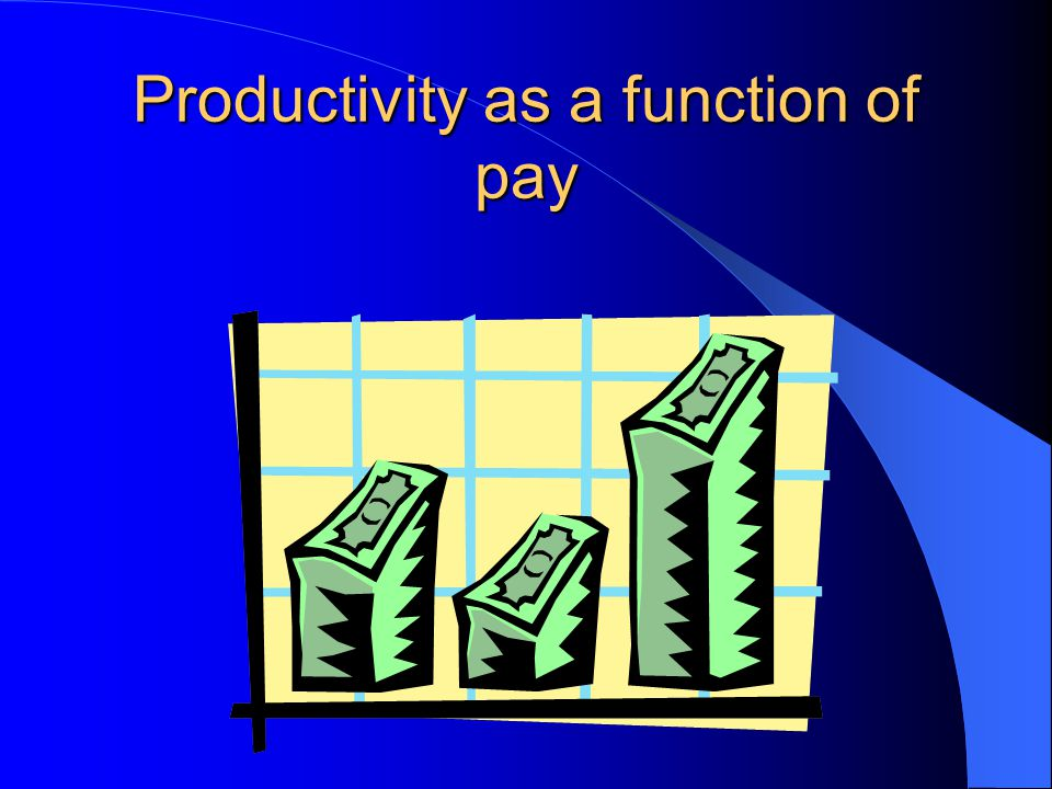 Productivity as a function of pay