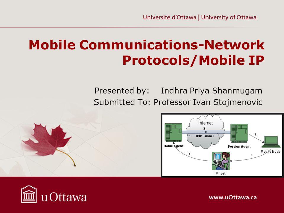 REGISTRATION MESSAGE –Registration messages in Mobile IP use the User Datagram Protocol (UDP).