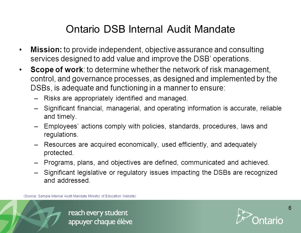 Practical tools to guide interaction between Internal Auditors and the Audit Committee Quarterly report: –Should highlight activities performed and status of each audit on plan –Provide timelines indicating if audits are ahead or behind schedule (metrics) –Highlight the number of high priority findings from completed audits –Identify the status of outstanding action plans for prior audit observations –Include a quality assessment score based on audit and stakeholder feedback Executive summary for completed audits: –Review the scope and objectives of the review –Summarize key findings and action steps –Provide an overall conclusion of the effectiveness of risk management procedures in the areas reviewed Planning Memo –Introduce the upcoming audits and key risks to be addressed –Outline the scope, approach and timelines for the review 17