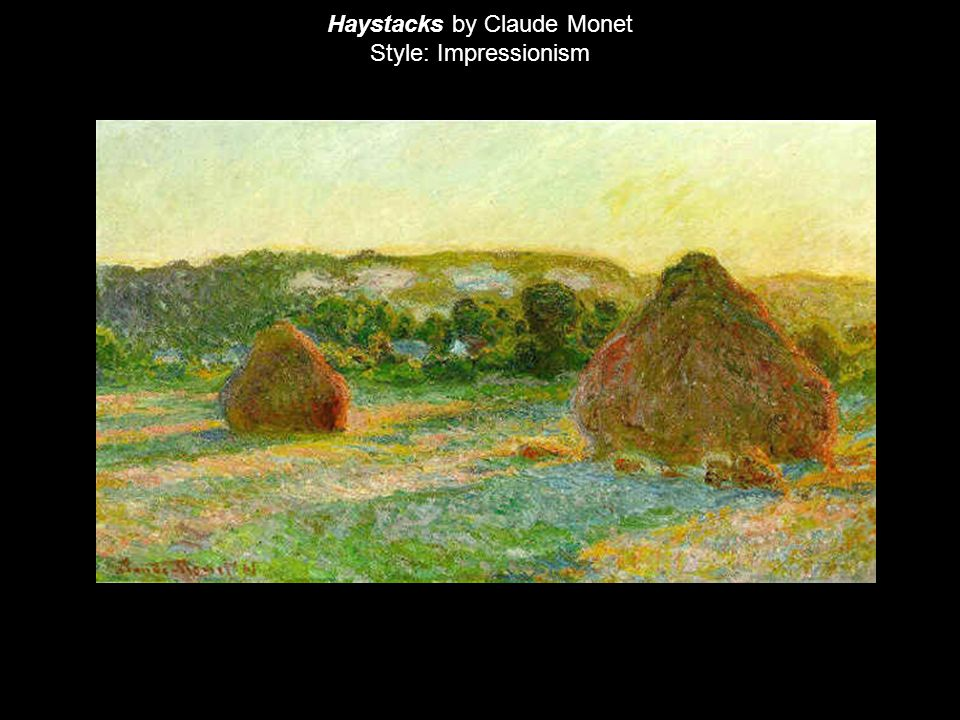 Haystacks by Claude Monet Style: Impressionism