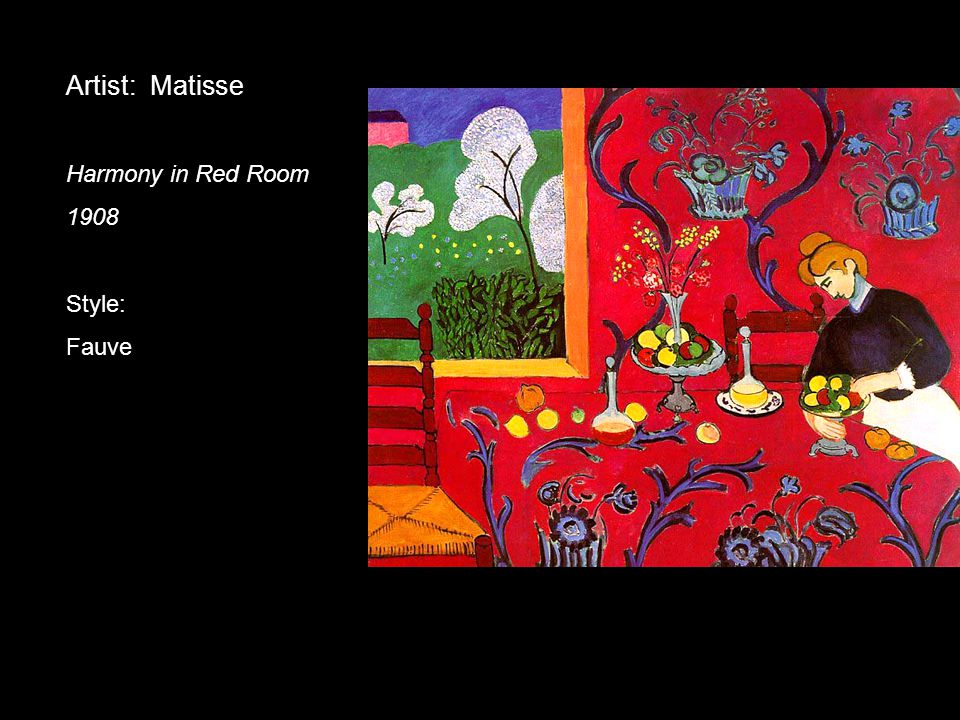 Artist: Matisse Harmony in Red Room 1908 Style: Fauve