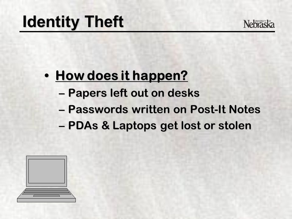 Identity Theft How does it happen?How does it happen.