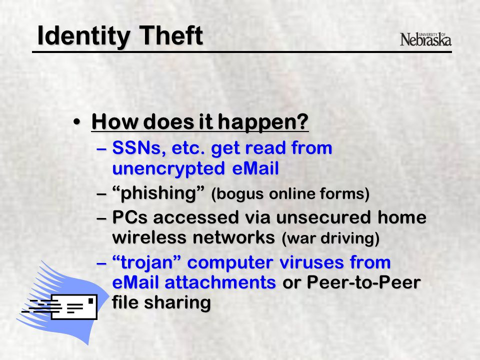 Identity Theft How does it happen How does it happen.