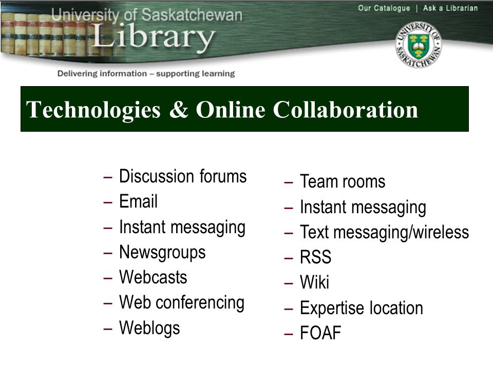 More Information on Wikis and Blogs  My Furl Archive –Wikis … –http://www.furl.net/members/fichterhttp://www.furl.net/members/fichter  Steven Cohen's and Jenny Levine's Internet Librarian presentations –http://www.theshiftedlibrarian.com/archives/2005/ 10/25/blogs_vs_wikis_presentation.htmlhttp://www.theshiftedlibrarian.com/archives/2005/ 10/25/blogs_vs_wikis_presentation.html