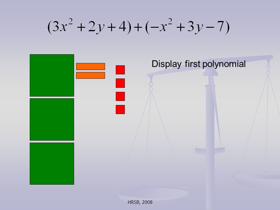 HRSB, 2008 Display first polynomial