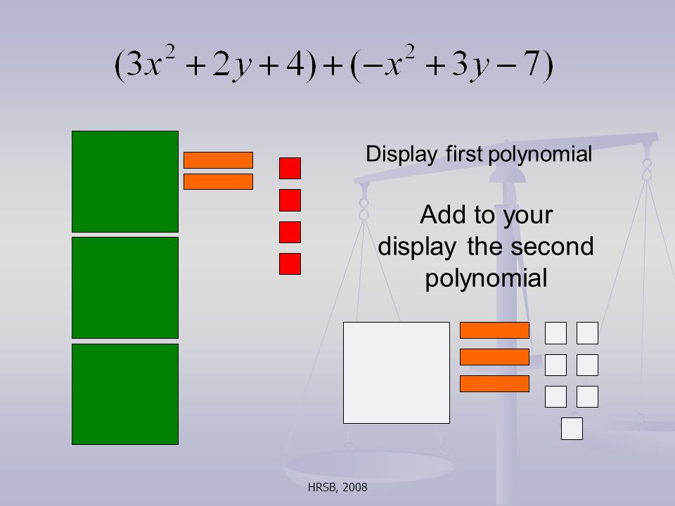 HRSB, 2008 Display first polynomial Add to your display the second polynomial