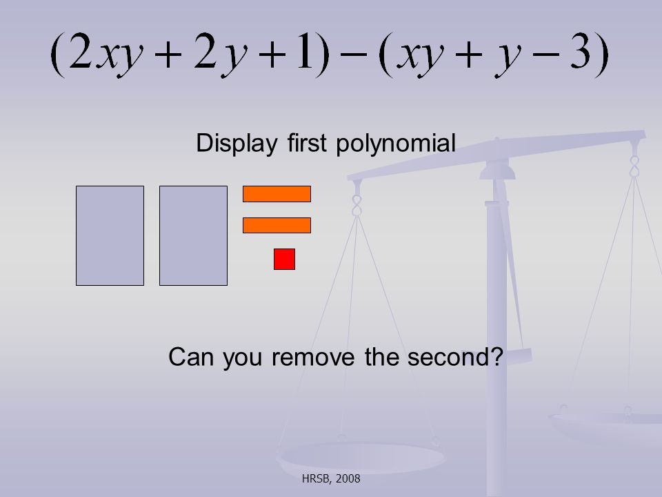 HRSB, 2008 Display first polynomial Can you remove the second