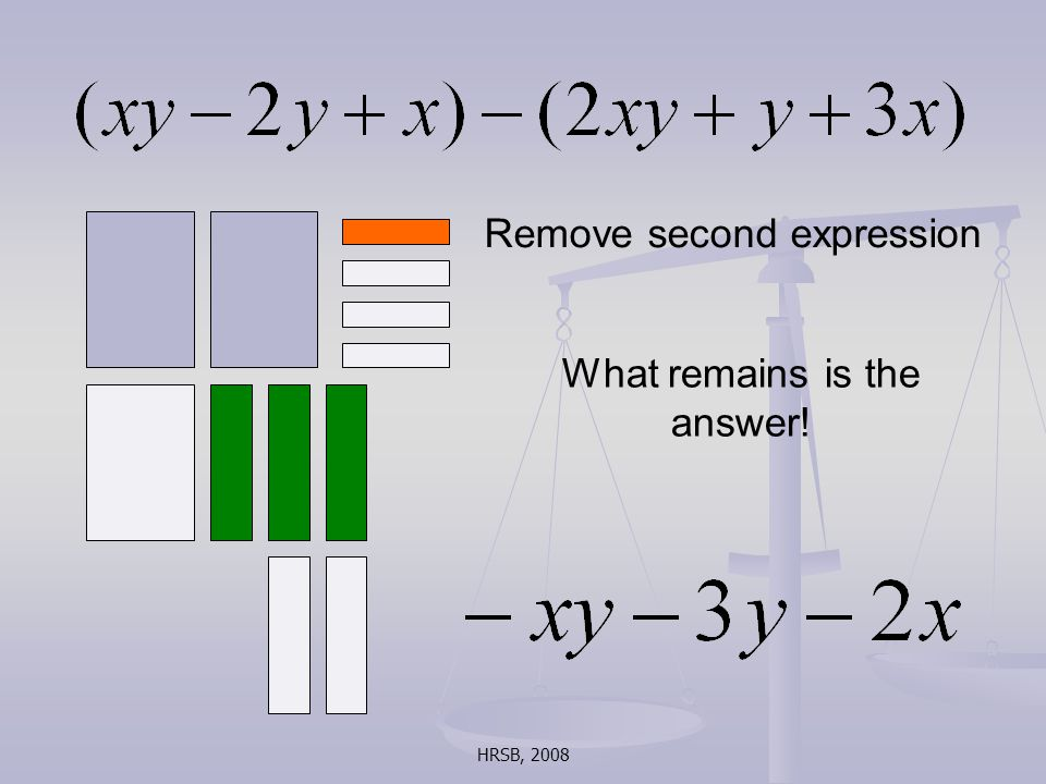HRSB, 2008 Remove second expression What remains is the answer!