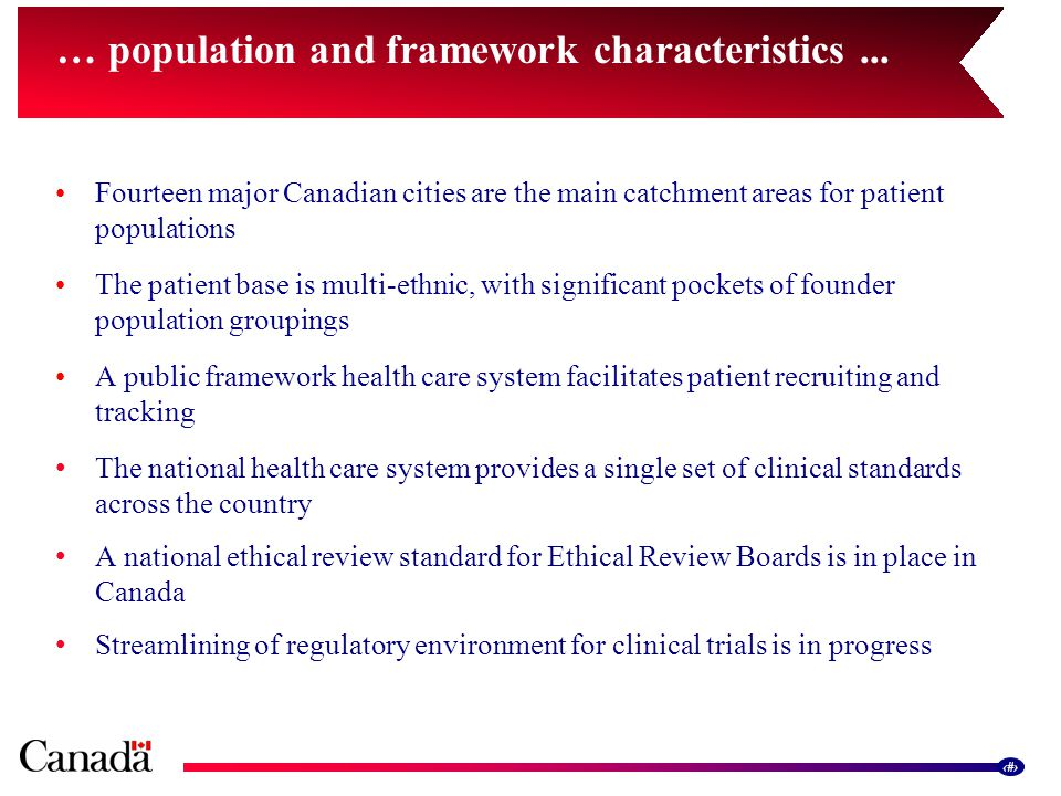 12 … population and framework characteristics...