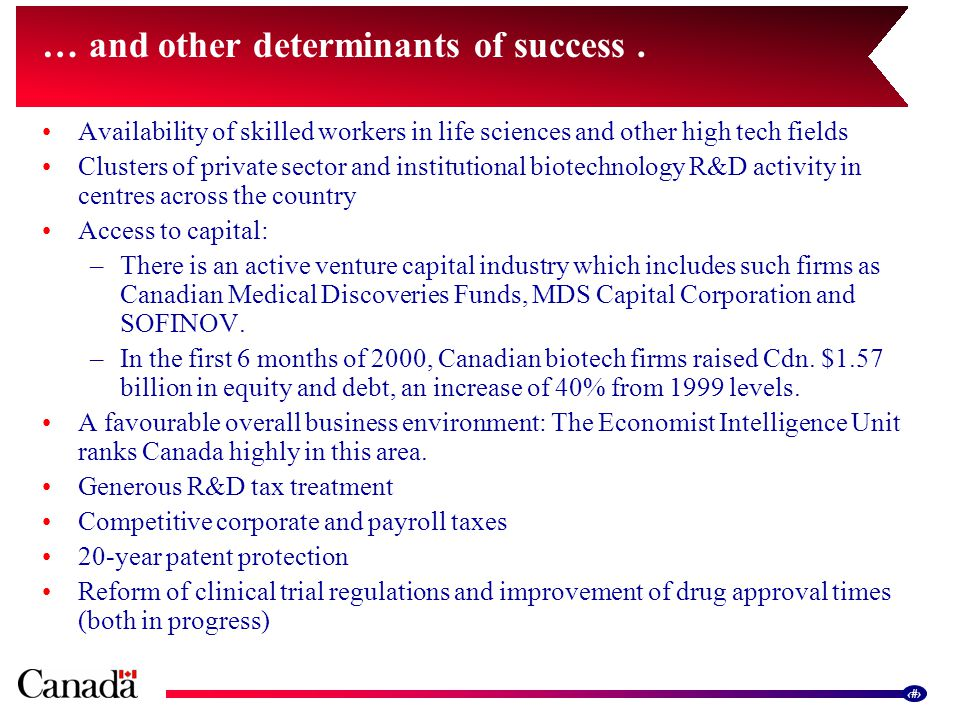 13 … and other determinants of success.